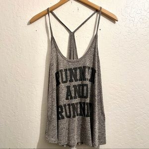 Tops - Gray workout top. Spaghetti strapped racer back